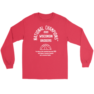 2020 NATIONAL CHAMPIONS LONG SLEEVE WISCONSIN BADGERS