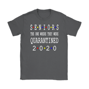 Womens Class Of 2020 Graduation Senior Funny Quarantine - Senior 2020 Shit Getting Real Tee Shirt