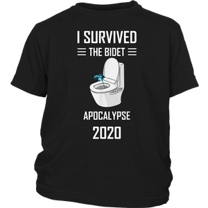 Vintage Funny I Survived The Bidet Apocalypse 2020 T-Shirt
