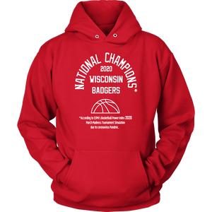 2020 NATIONAL CHAMPIONS HOODIE WISCONSIN BADGERS