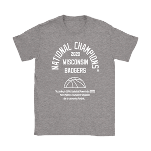 2020 NATIONAL CHAMPIONS WISCONSIN BADGERS WOMENS SHIRT