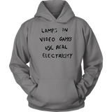 LAMPS IN VIDEO GAMES USE REAL ELECTRICITY SHIRT