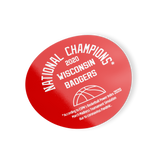 2020 NATIONAL CHAMPIONS Sticker WISCONSIN BADGERS