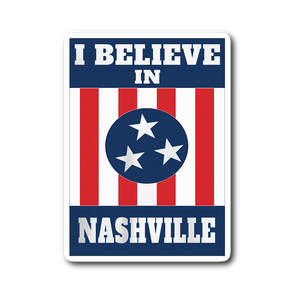 I BELIEVE IN NASHVILLE Mural Sticker