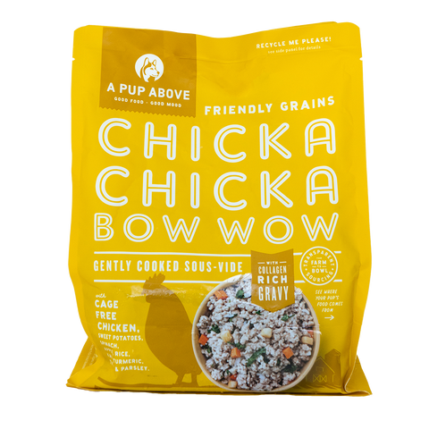 chicka chicka bow wow chicken based fresh dog food bag
