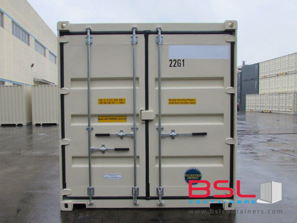 20'Duocon (2 x 10') ISO New Build One Trip Shipping Containers in RAL1015 Beige ex St. Louis - eSHOP - BSL CONTAINERS