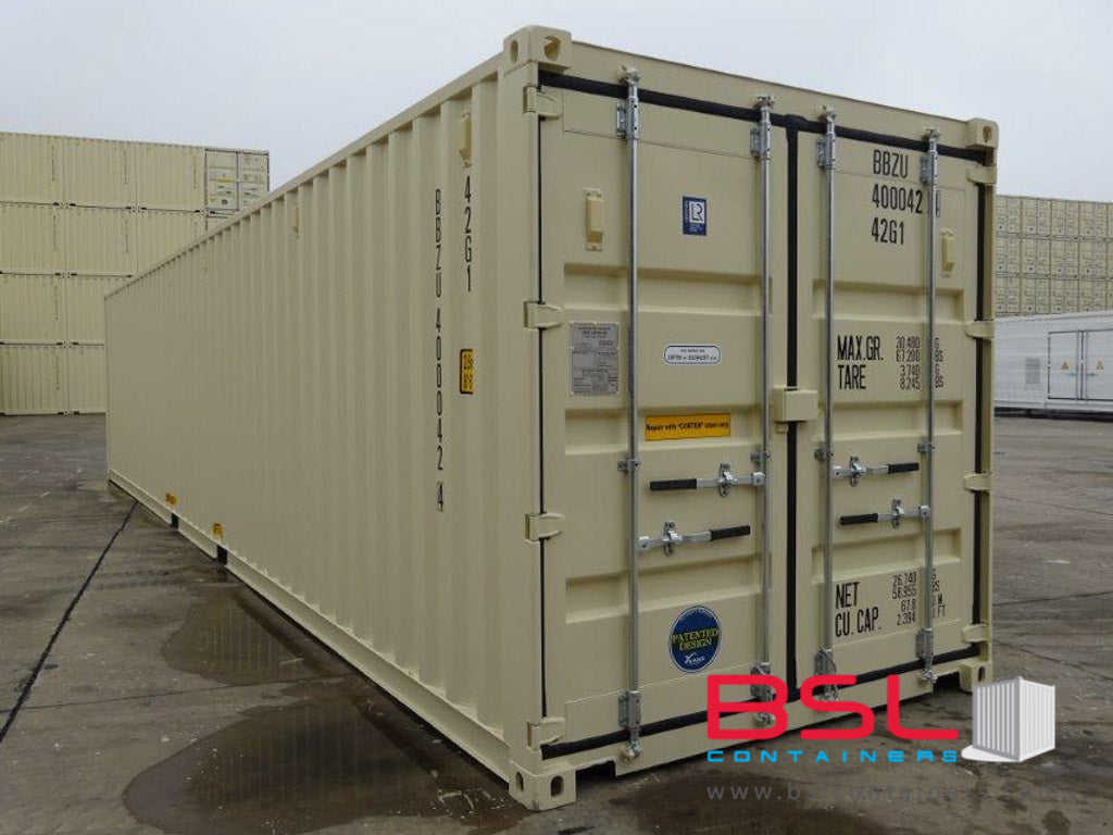 40'GP ISO New Build One Trip Shipping Containers in RAL1015 Beige ex Montreal - eSHOP - BSL CONTAINERS
