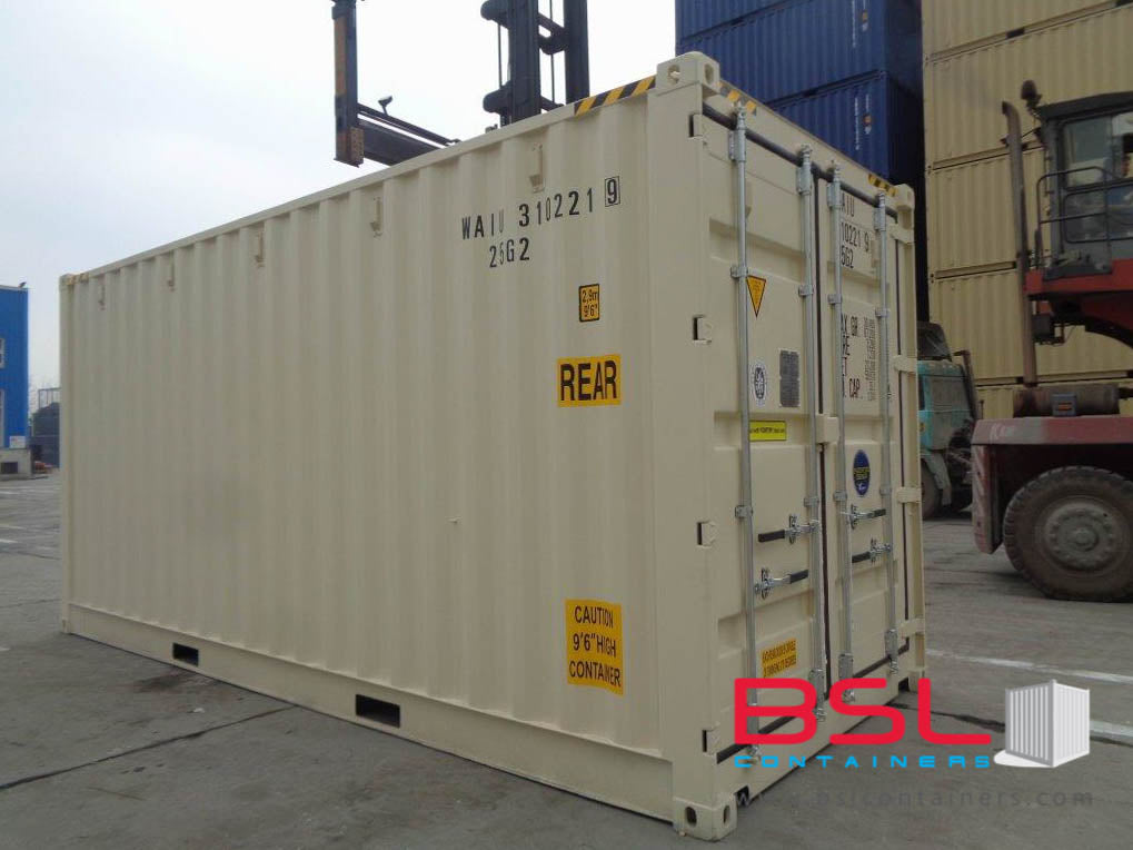 20'OS ISO New Build One Trip Shipping Containers in RAL1015/7035/7042 ex Chicago - eSHOP - BSL CONTAINERS