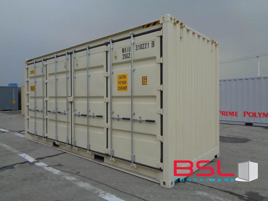 20'OS ISO New Build One Trip Shipping Containers in RAL1015 ex Chicago - eSHOP - BSL CONTAINERS