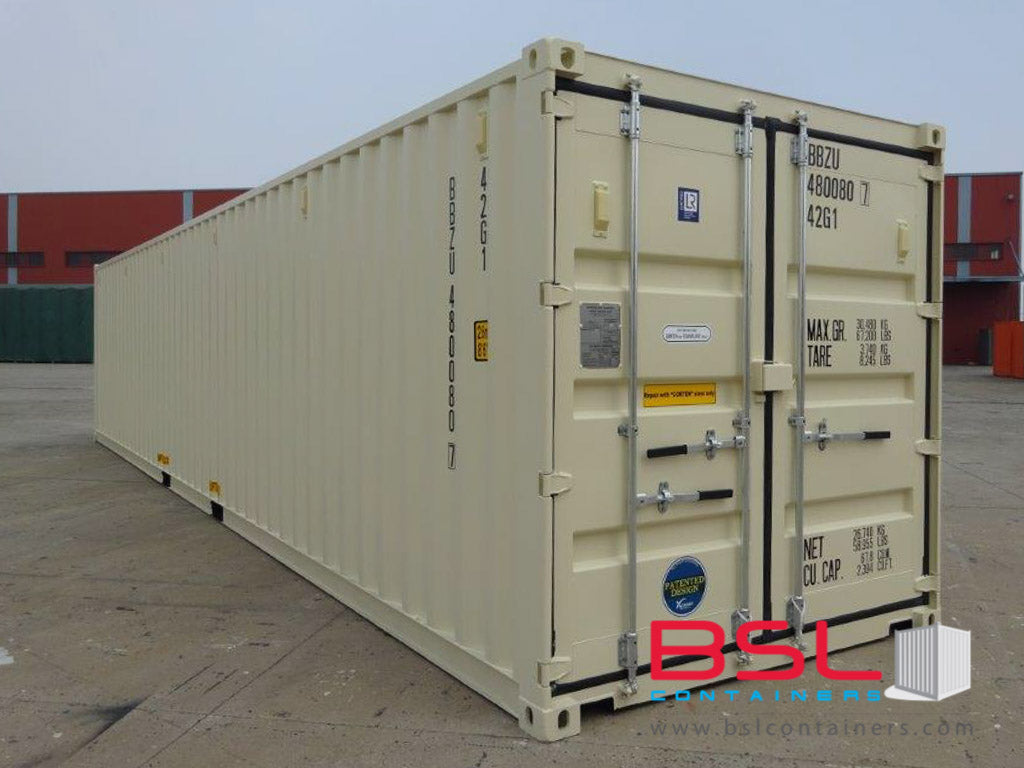 40'GP ISO New Build One Trip Shipping Containers in RAL1015 Beige ex Atlanta - eSHOP - BSL CONTAINERS
