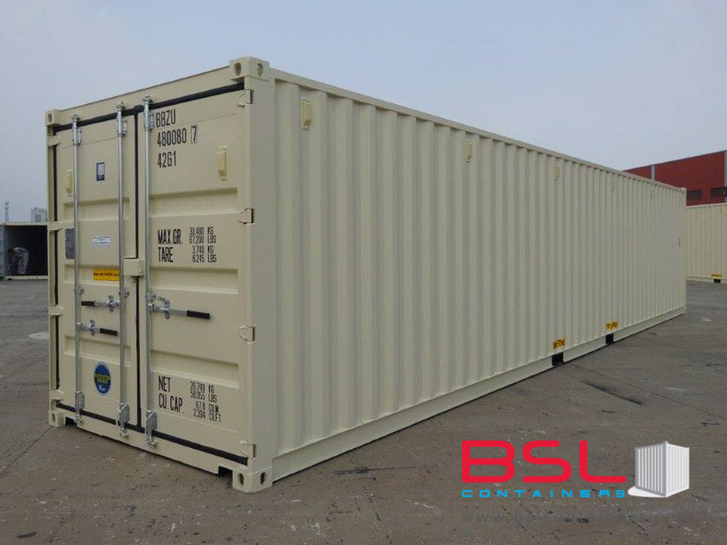 40'GP ISO New Build One Trip Shipping Containers in RAL1015 Beige ex Vancouver - eSHOP - BSL CONTAINERS