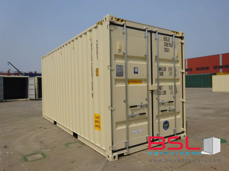 20'HC ISO New Build One Trip Shipping Containers in RAL1015 Beige ex Savannah - eSHOP - BSL CONTAINERS