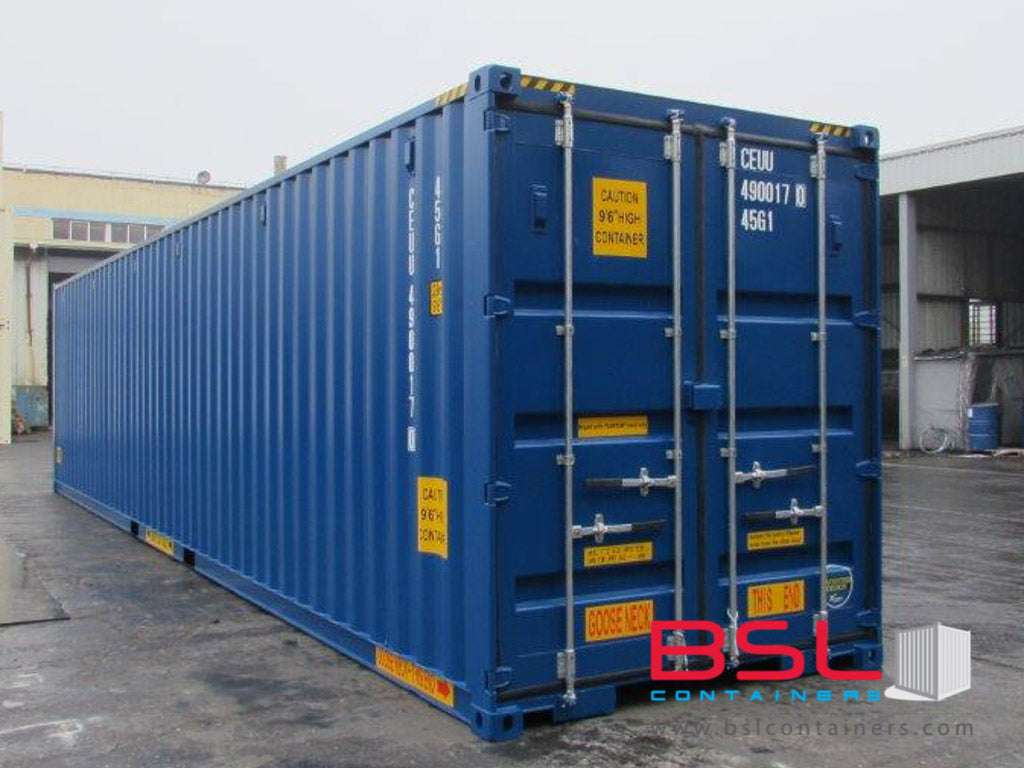 40'HCDD ISO New Build One Trip Shipping Containers in RAL5010 ex Hamburg - eSHOP - BSL CONTAINERS