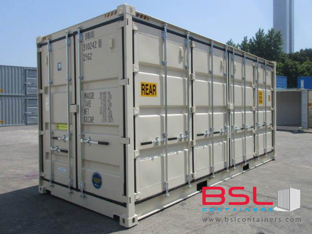 20'HCOS ISO New Build One Trip Shipping Containers in RAL1015 Beige ex Melbourne - eSHOP - BSL CONTAINERS