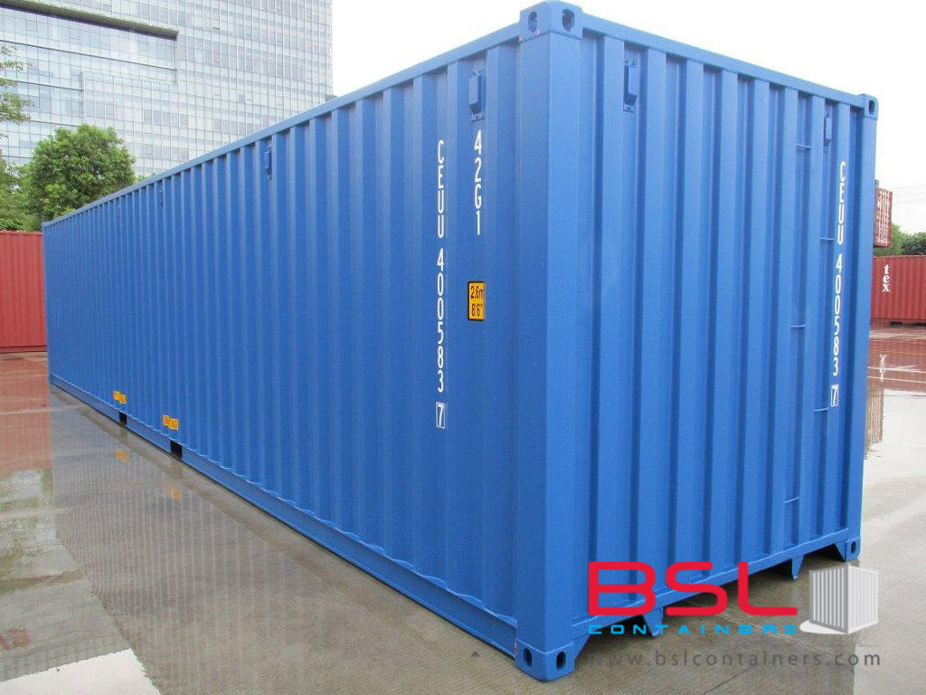 40'GP ISO New Build One Trip Shipping Containers in RAL5010 Blue ex Johannesburg - eSHOP - BSL CONTAINERS