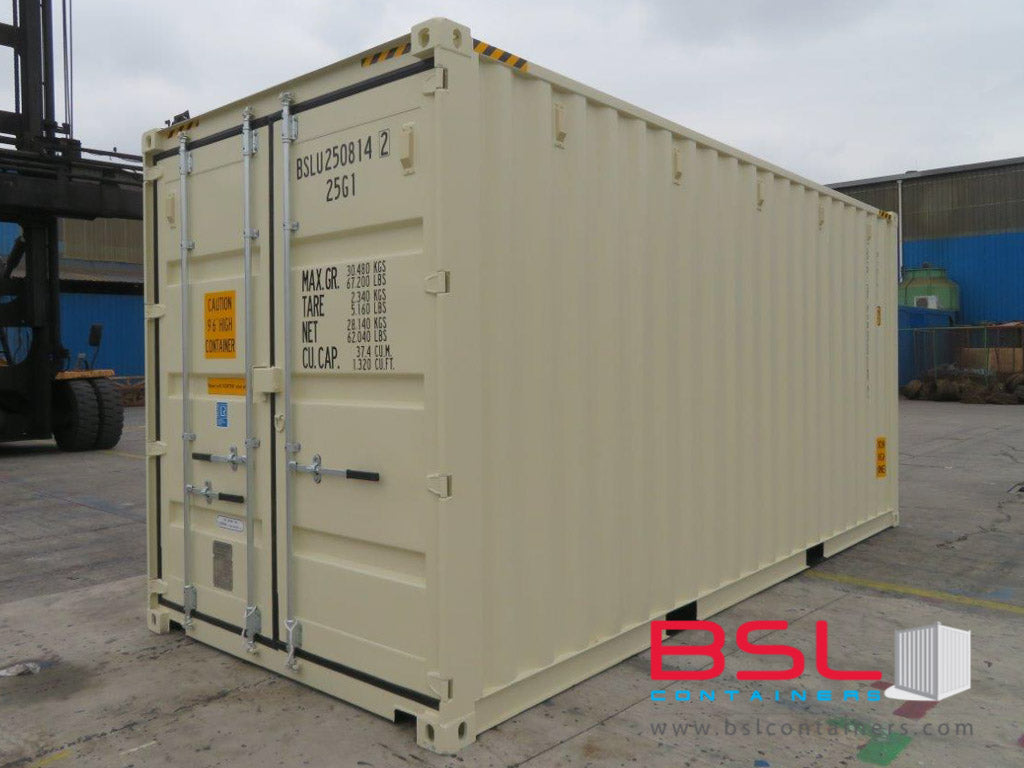 20'HC ISO New Build One Trip Shipping Containers in RAL1015 Beige ex Chicago - eSHOP - BSL CONTAINERS