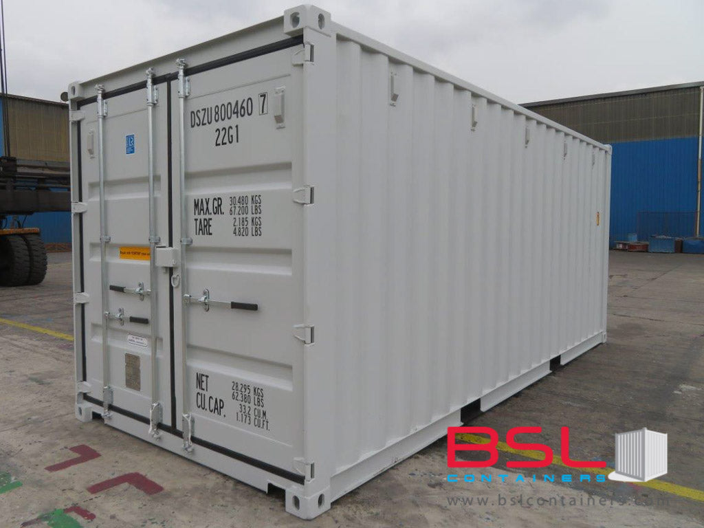 20' ISO New Build One Trip Shipping Containers in RAL7035 light Grey ex Atlanta (20'GP) - eSHOP - BSL CONTAINERS