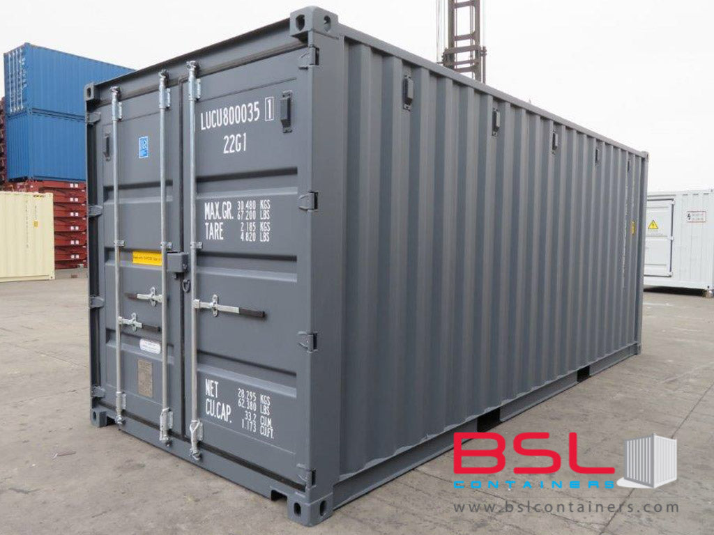 20'GP ISO New Build One Trip Shipping Containers in RAL7015 Grey ex Valencia - eSHOP - BSL CONTAINERS