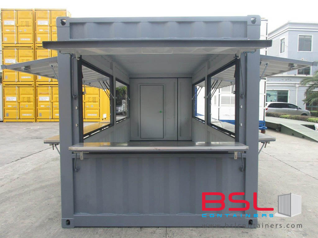 20' New Build ISO Kiosk Containers (Container shop) FOB China CY (20'Kiosk) - eSHOP - BSL CONTAINERS