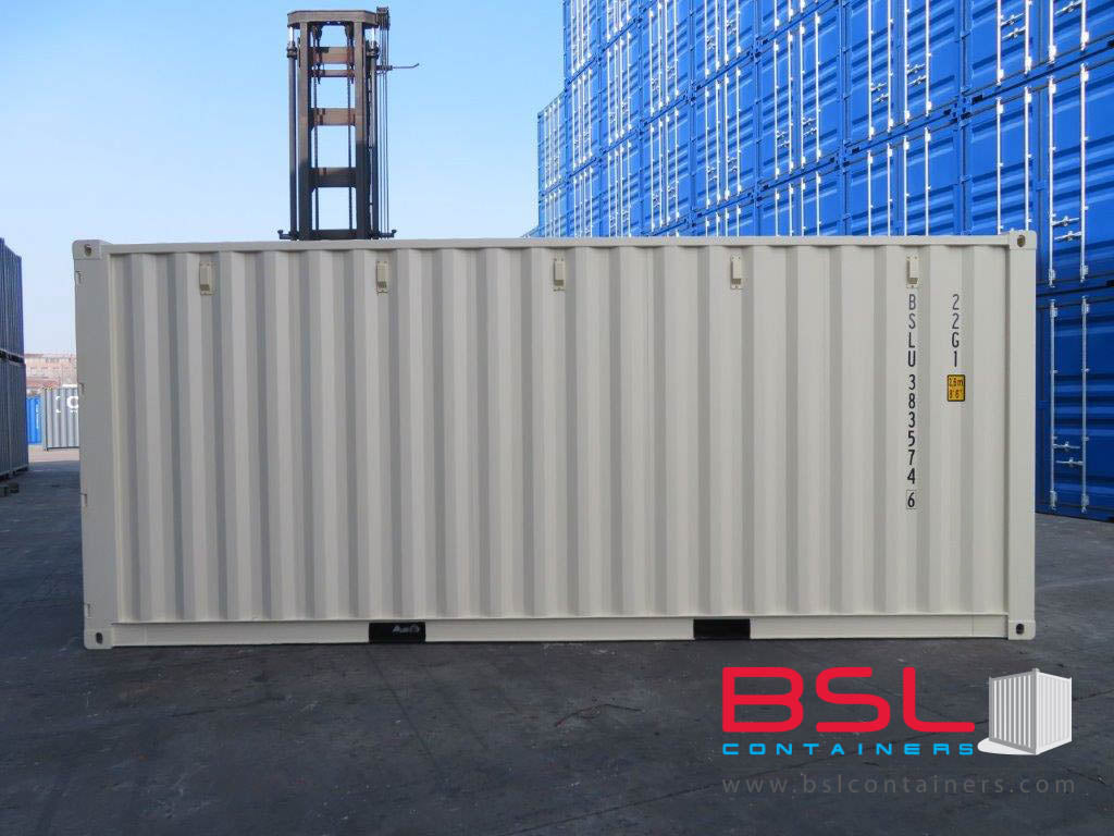 UPCOMIGN 20' ISO New Build One Trip Shipping Containers in RAL1015 Beige ex Kansas (20'GP) - eSHOP - BSL CONTAINERS