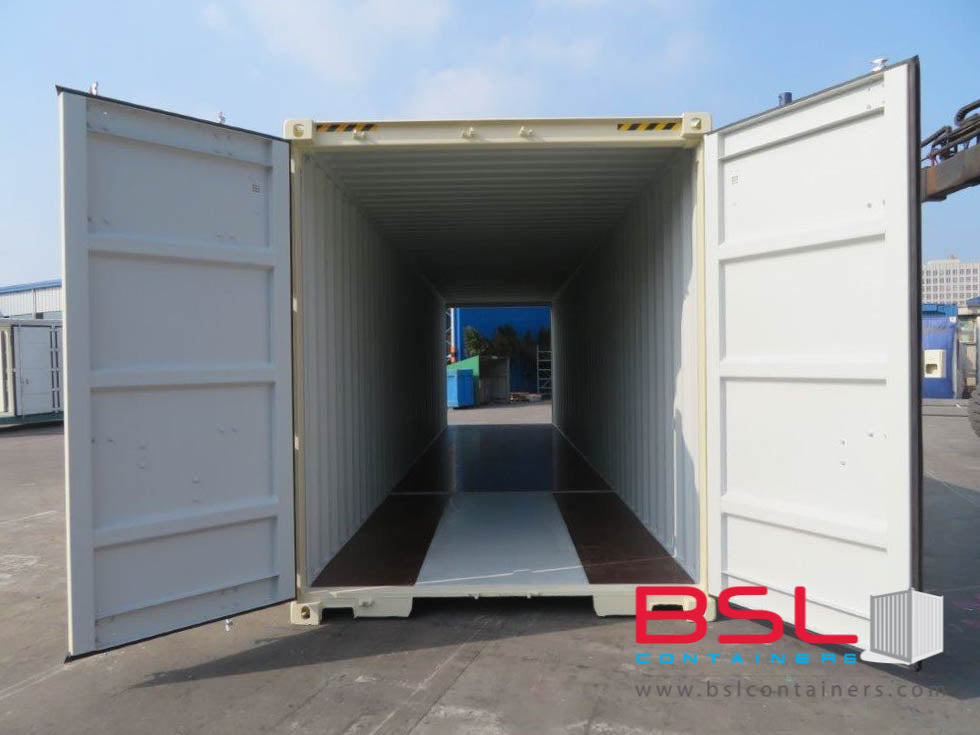 UPCOMING 40'HCDD ISO New Build One Trip Shipping Containers in RAL1015 Beige ex Miami - eSHOP - BSL CONTAINERS