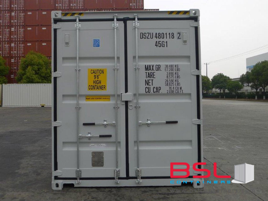 40'HCDD ISO New Build One Trip Shipping Containers in RAL7035 Grey ex Toronto - eSHOP - BSL CONTAINERS