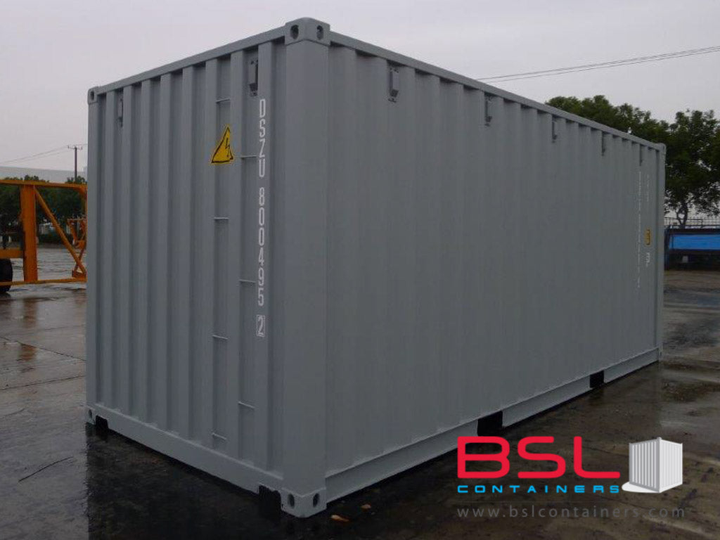 20'GP ISO New Build One Trip Shipping Containers in RAL7035 light Grey / RAL7042 Grey ex Montreal - eSHOP - BSL CONTAINERS