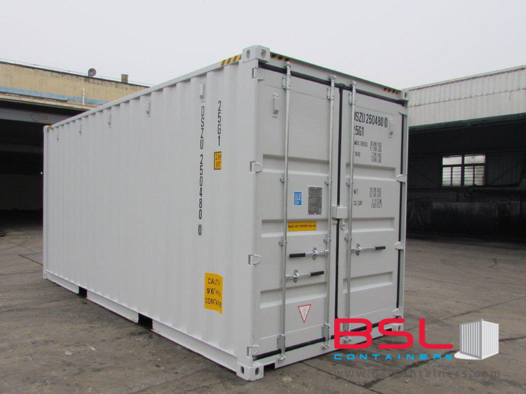 20'HC ISO New Build One Trip Shipping Containers in RAL7035 Light Grey ex Helsinki - eSHOP - BSL CONTAINERS