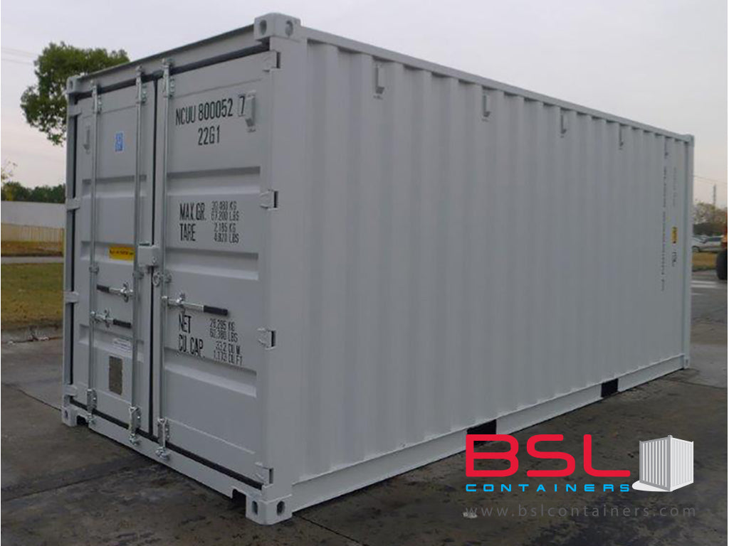 20' ISO New Build One Trip Shipping Containers in RAL1015 Beige/ RAL7015 Grey / RAL7035 Light Grey ex Chicago (20'GP) - eSHOP - BSL CONTAINERS