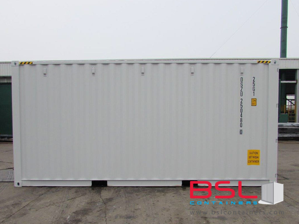 20'HC ISO New Build One Trip Shipping Containers in RAL7035 Light Grey ex Montreal - eSHOP - BSL CONTAINERS