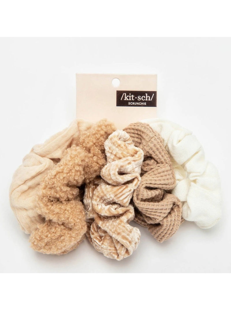 Assorted Texture Scrunchie 5pc Set