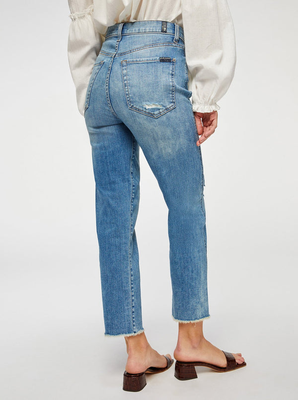 High Waist Cropped Straight