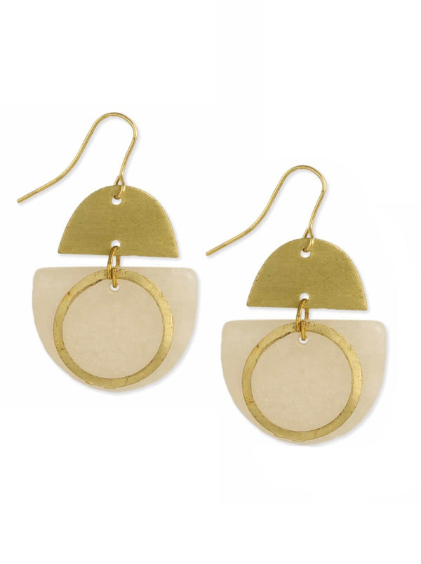 Geo Resin Dangle Earring