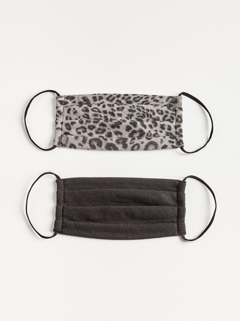 Leopard Face Mask 2-Pack - Adult