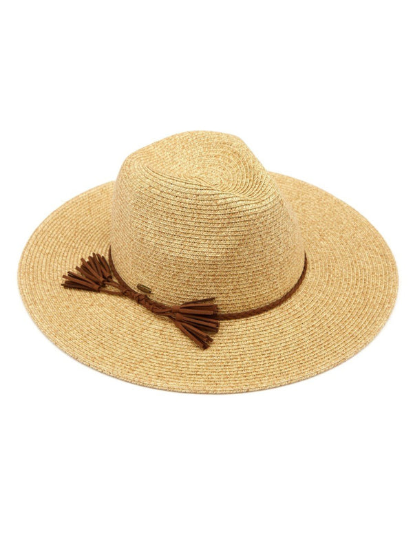 Panama Hat With Braided Tassel Band
