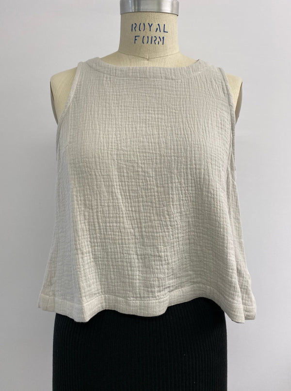 Gauze Tulip Back Top