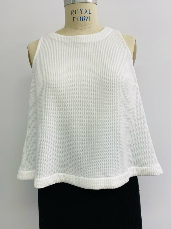 Waffle Tulip Back Top