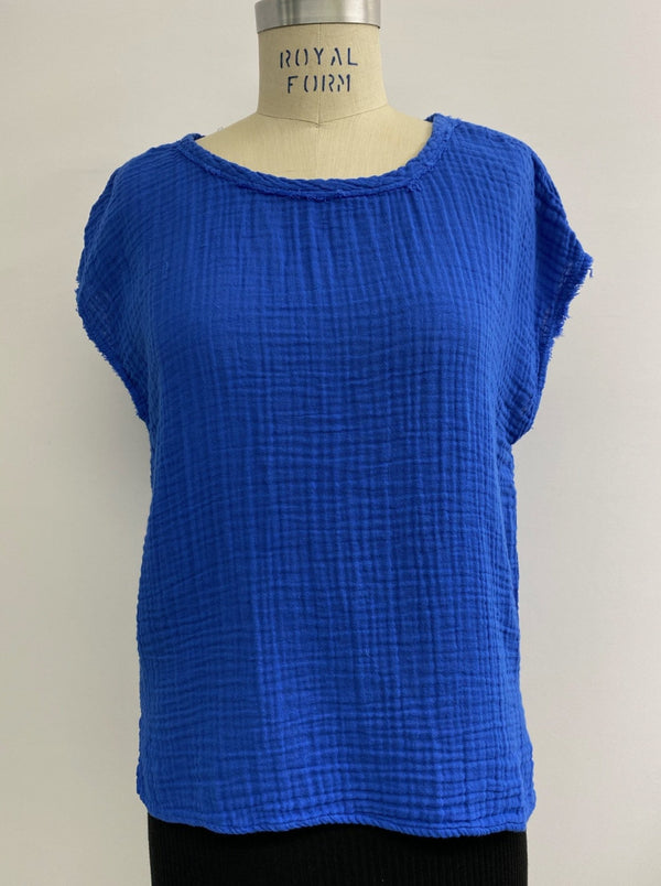 Amy Scoop Neck Gauze Top
