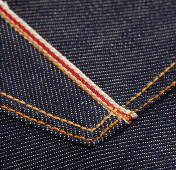 Red-line selvedge denim strip
