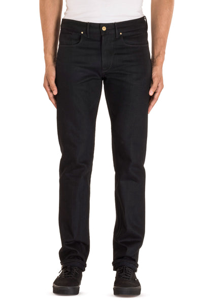 SLIM STRAIGHT Italian Selvedge Denim Pitch Black