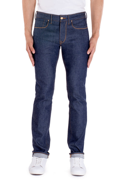 SLIM TAPER Italian Super Stretch Selvedge Denim Ever Blue