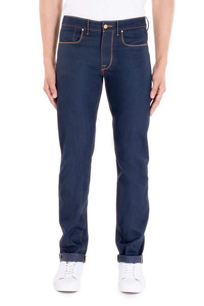 SLIM STRAIGHT Italian Selvedge Denim Overcast Indigo