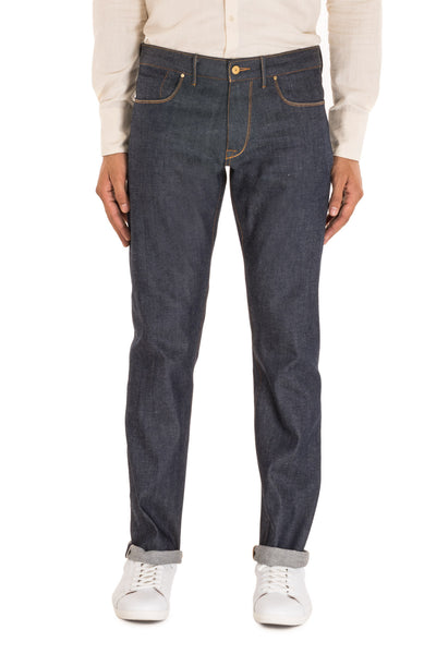 COMFORT STRAIGHT Italian Super Stretch Selvedge Denim Ever Blue