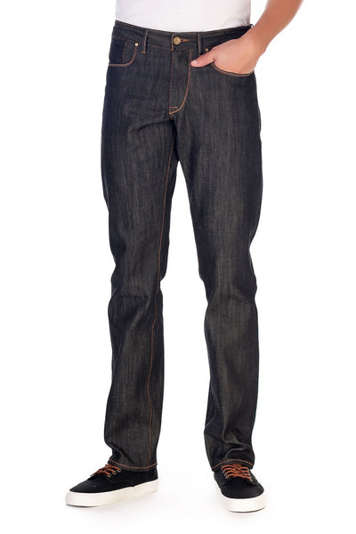 COMFORT STRAIGHT Italian Selvedge Denim Charcoal Blk