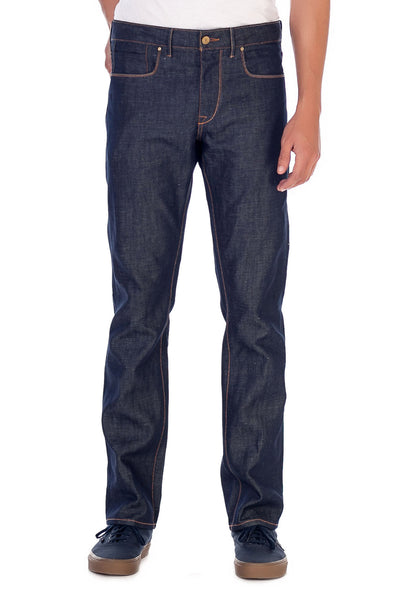 SLIM STRAIGHT Linen Selvedge Denim True Blue