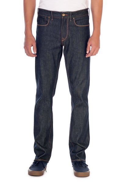 SLIM STRAIGHT Italian Super Stretch Selvedge Denim Dark Indigo