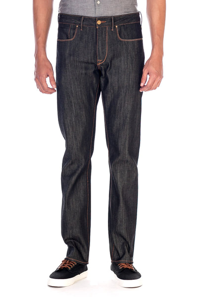 SLIM STRAIGHT Italian Selvedge Denim Charcoal Black