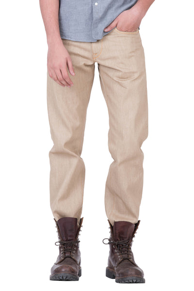 COMFORT STRAIGHT Selvedge Denim Khaki