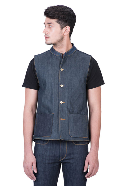 "GILET from ""REMADE"" Selvedge Denim"
