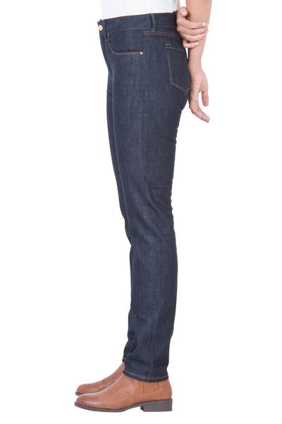 HI RISE SLIM Organic Selvedge Denim Brilliant Indigo